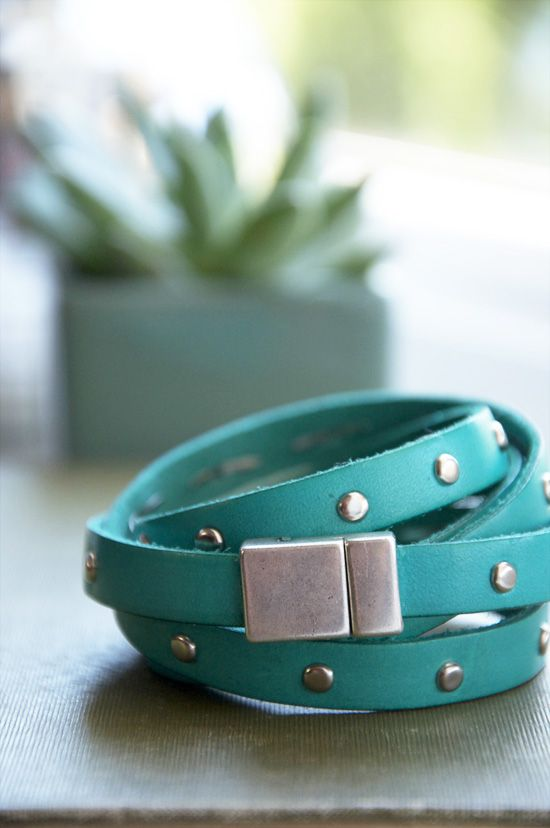DIY Studded Leather Bracelet