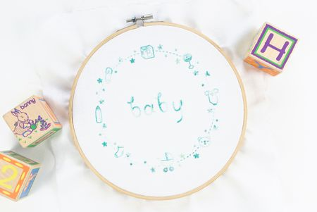 Embroidered Baby Border Free Pattern