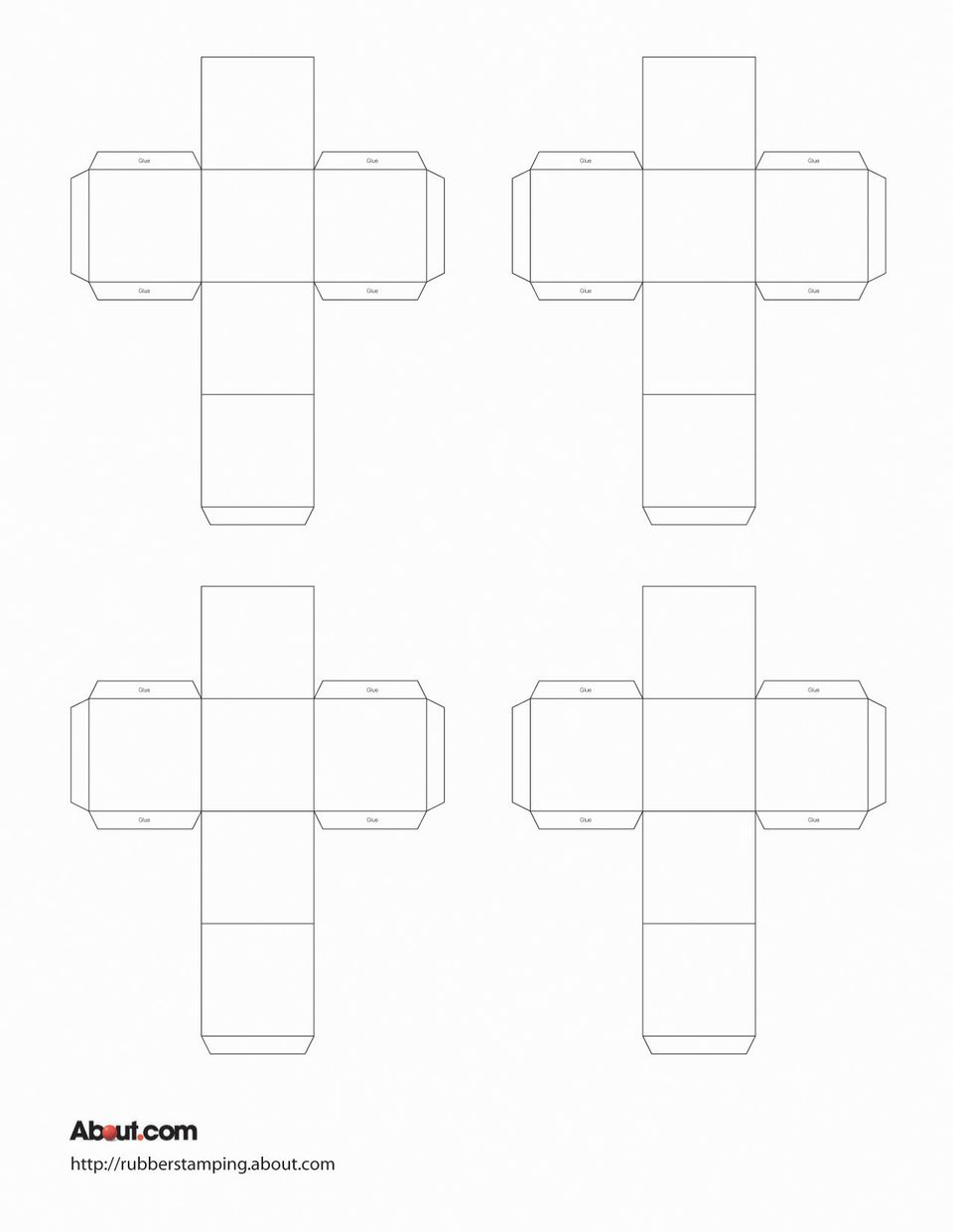 This is a photo of Delicate Printable Cube Template