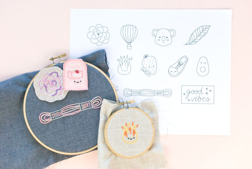 Mini Embroidery Motifs for Patches