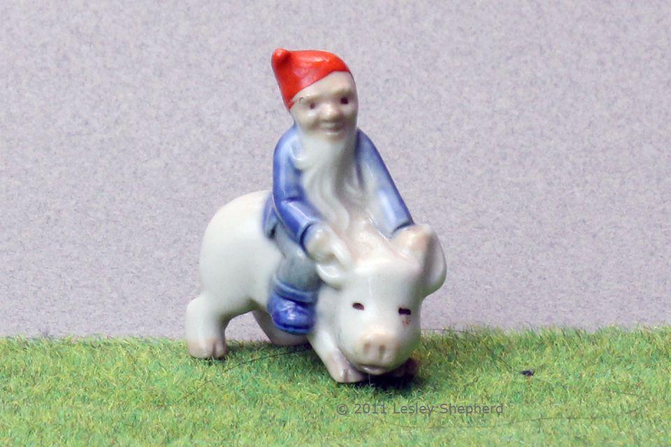 Wade Fairy Folk Leprechaun on Pig