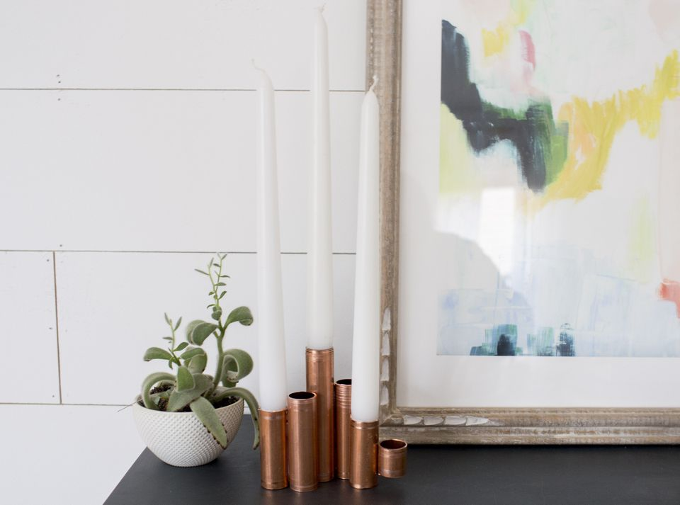 How to Make Brass Tapered Candle Holders