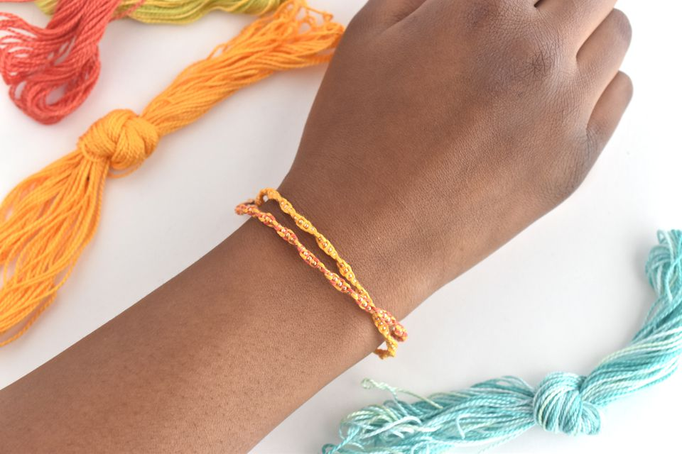 How to Make Knotted Chain Friendship Bracelets