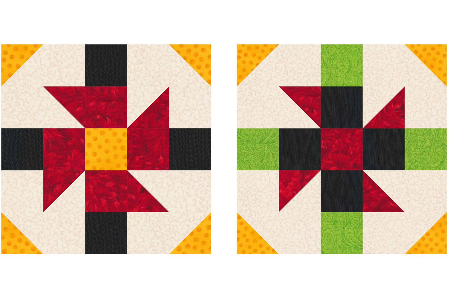 Baton Rouge Square Quilt Block Pattern