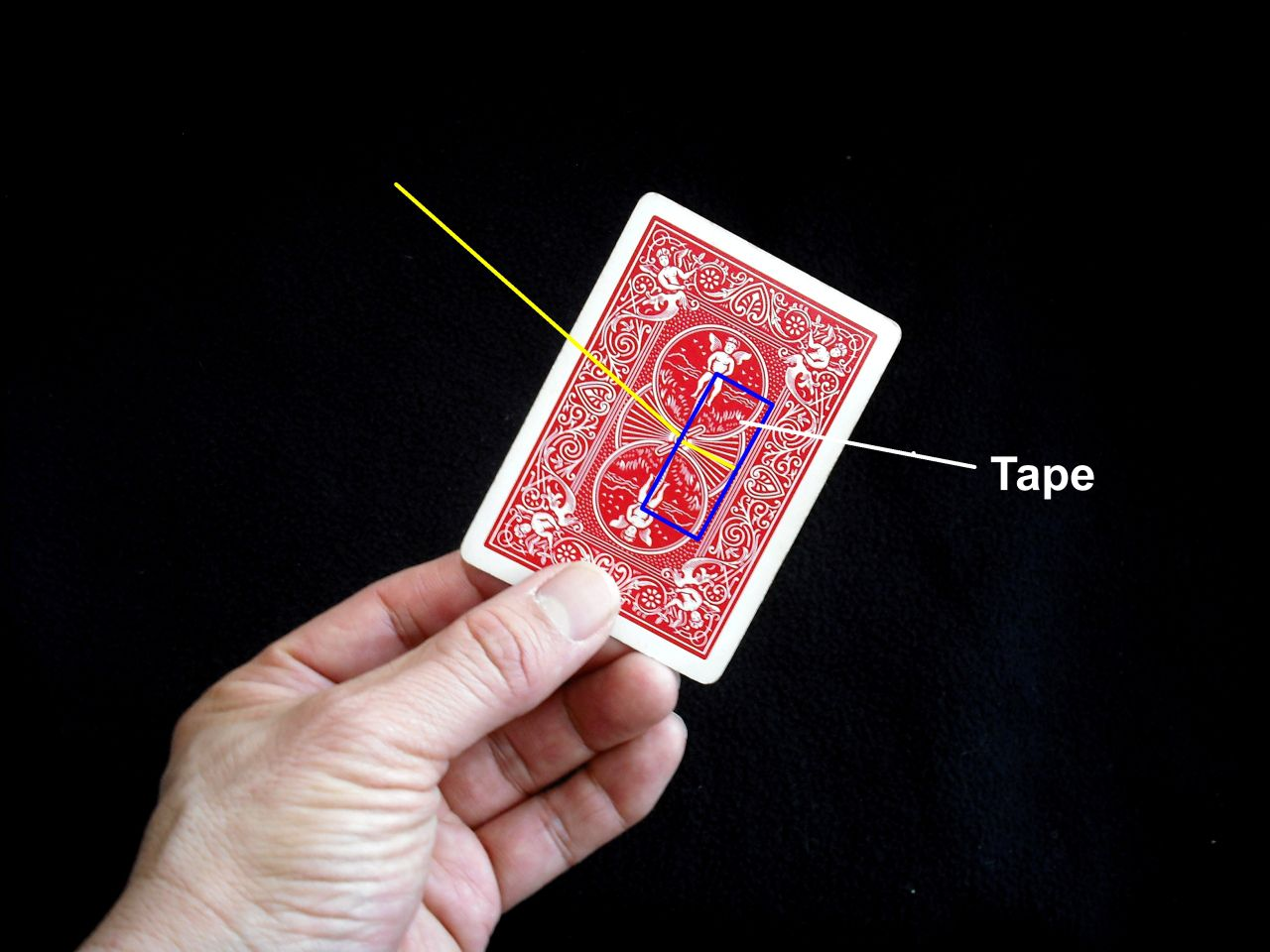 Where to put the tape on the card