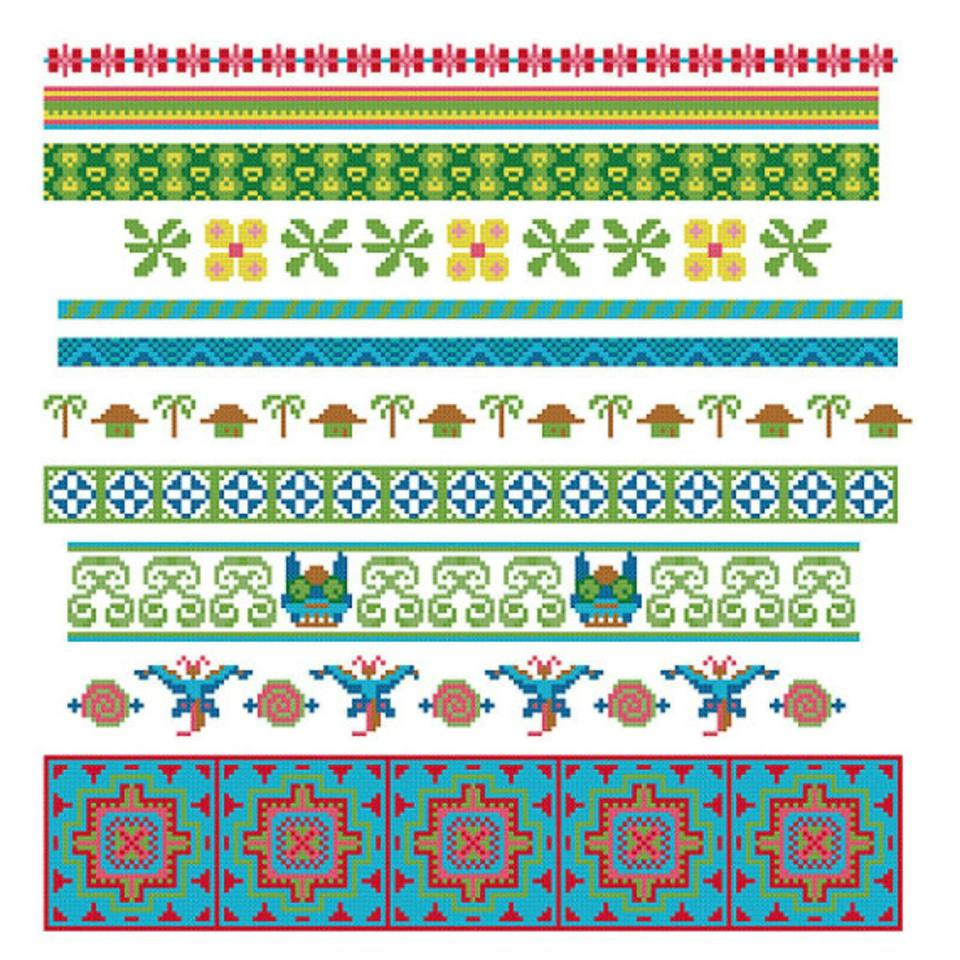 cross stitch border pattern