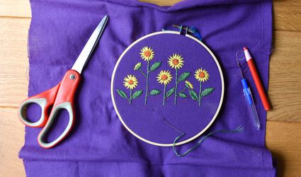embroidery of sunflower