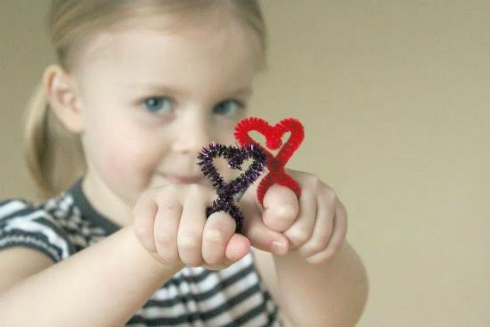 Heart-Shaped Pipe Cleaner Rings