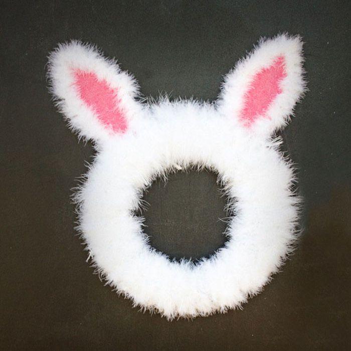 DIY Easter Bunny Wreath