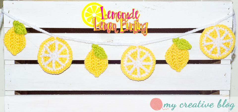 Lemon Crochet Bunting Free Pattern