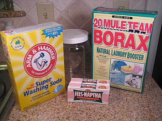 Homemade laundry soap ingredients