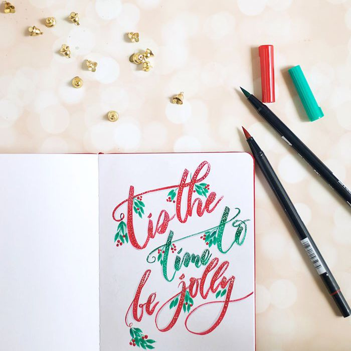 hand drawn holiday card