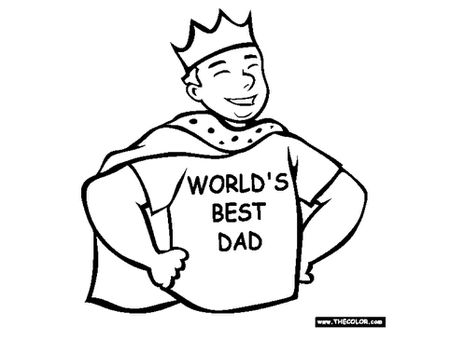 A Dad Wearing Cape Crown And Shirt That Says Worlds Best
