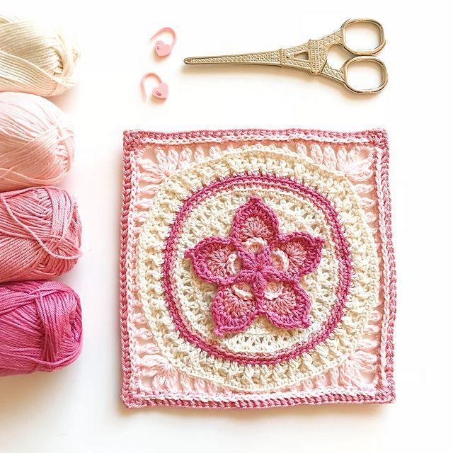 Flower Square Granny Pattern