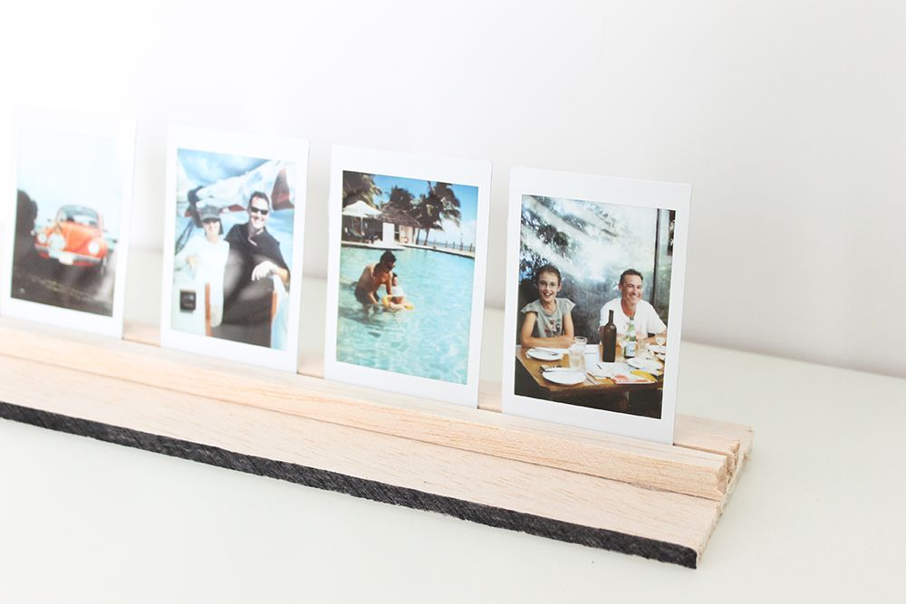 DIY Photo Stand For Dad