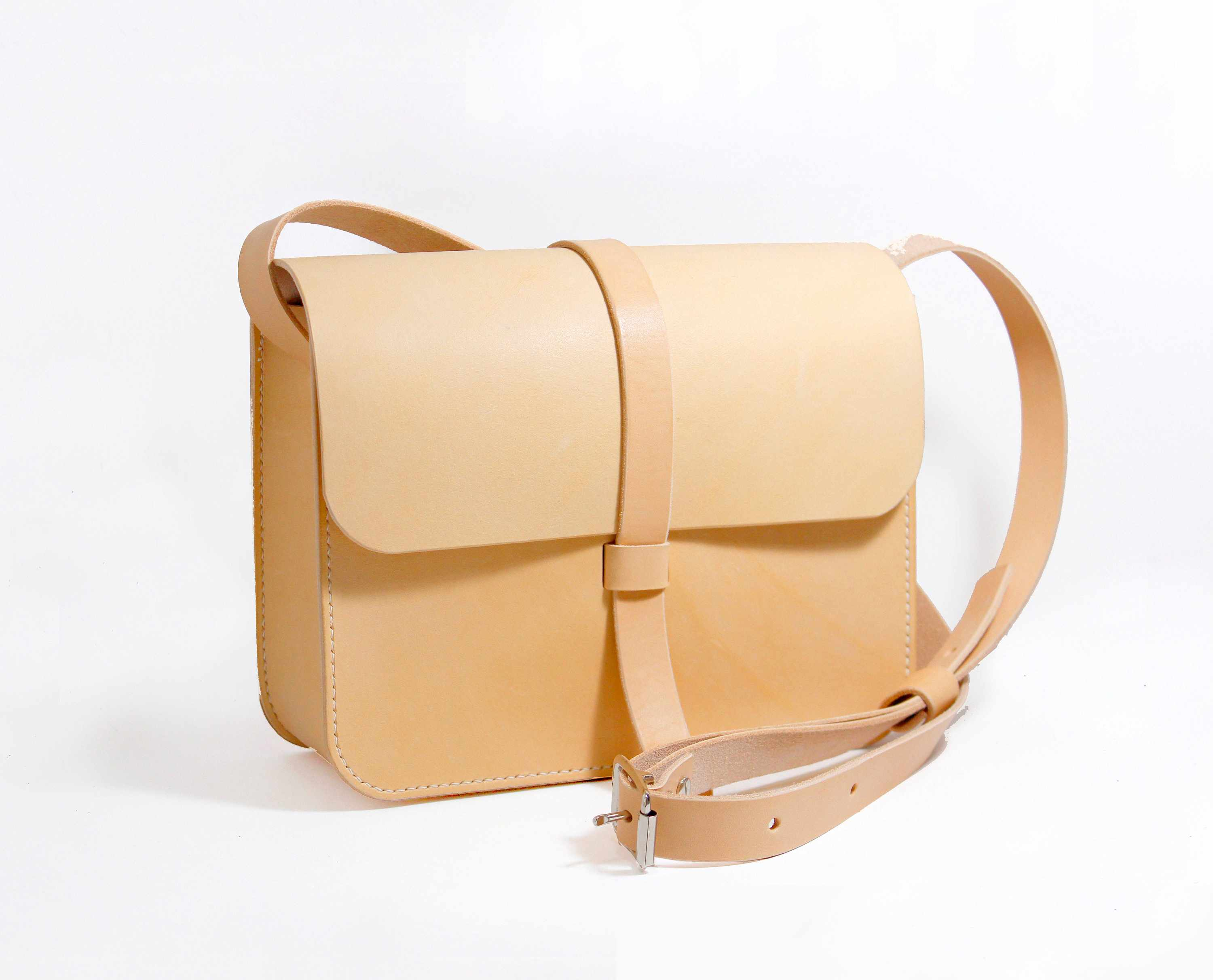 DIY Leather Cross-Body Bag with Strap