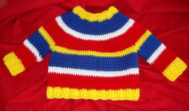 Striped Crochet Sweater Free Pattern