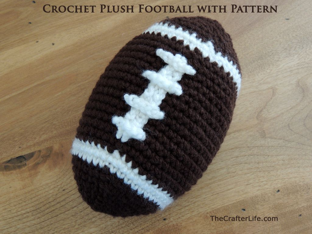 Stuffed Football Free Crochet Pattern