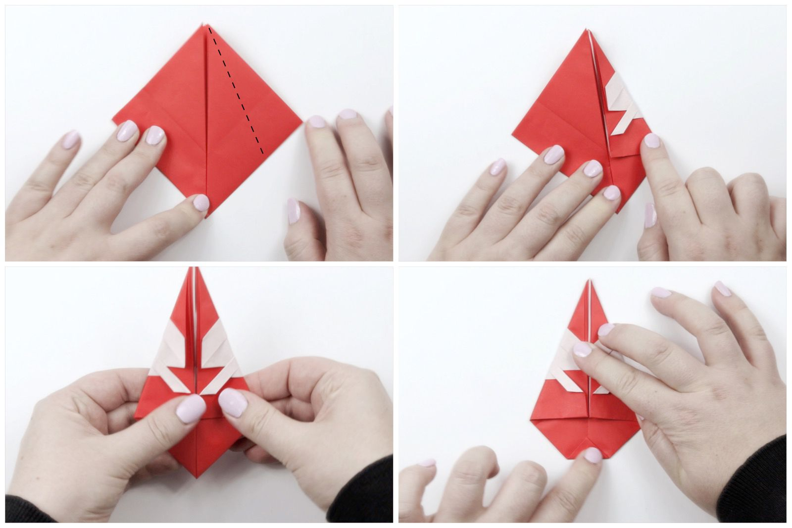 How to Make DIY Origami Santa Claus? | The Idea King Tutorial #40 ... | 1066x1600
