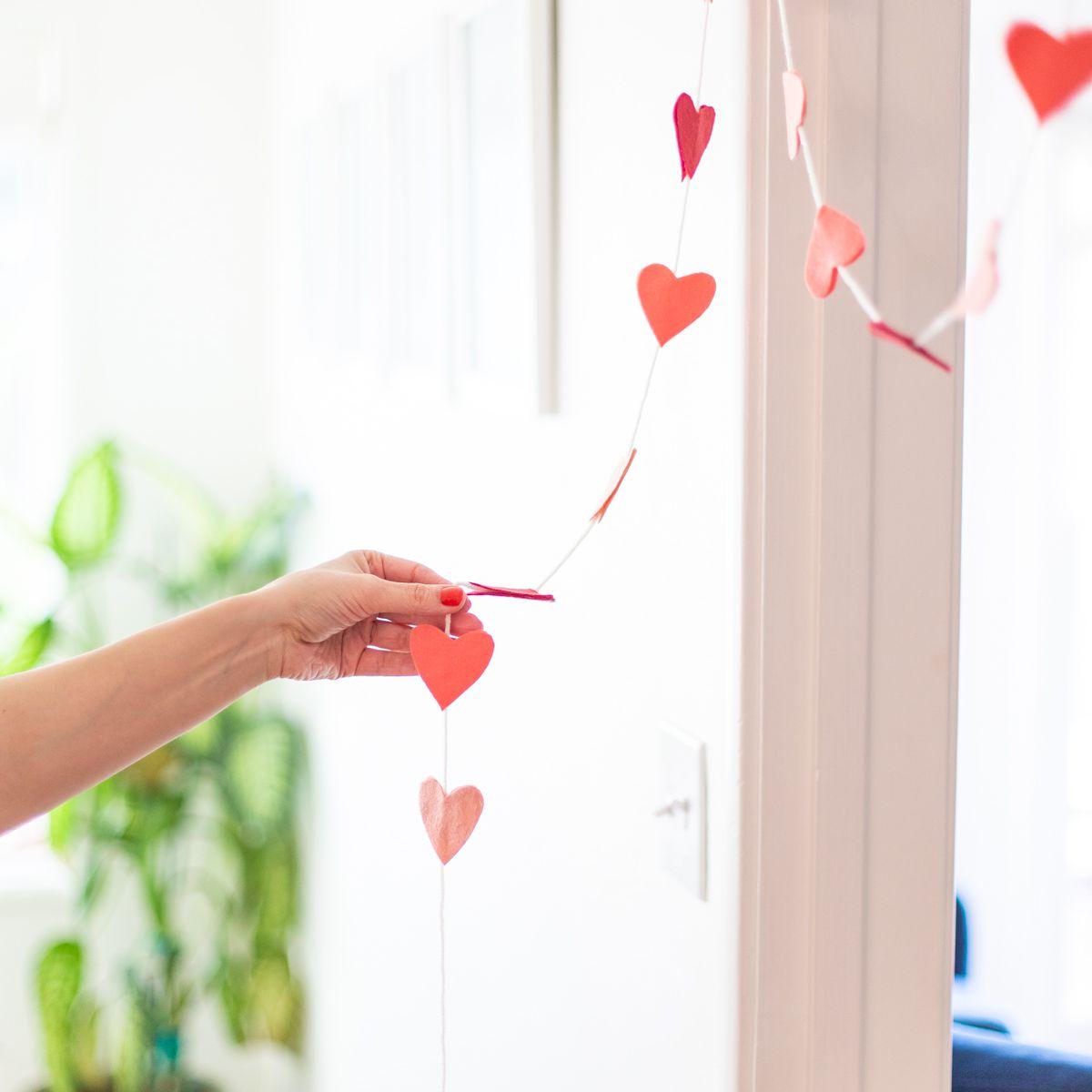 Hanging a Valentine