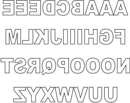 Scrapbooking Reversed Block Upper Case Letters For Titles