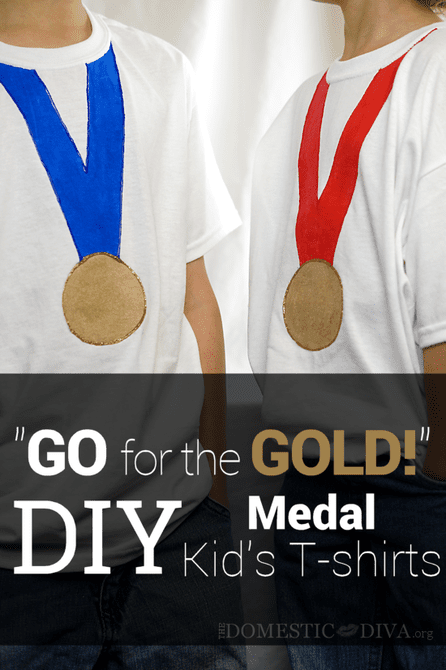 "DIY: ""Go For The Gold!"" Medal Kids T-shirts"