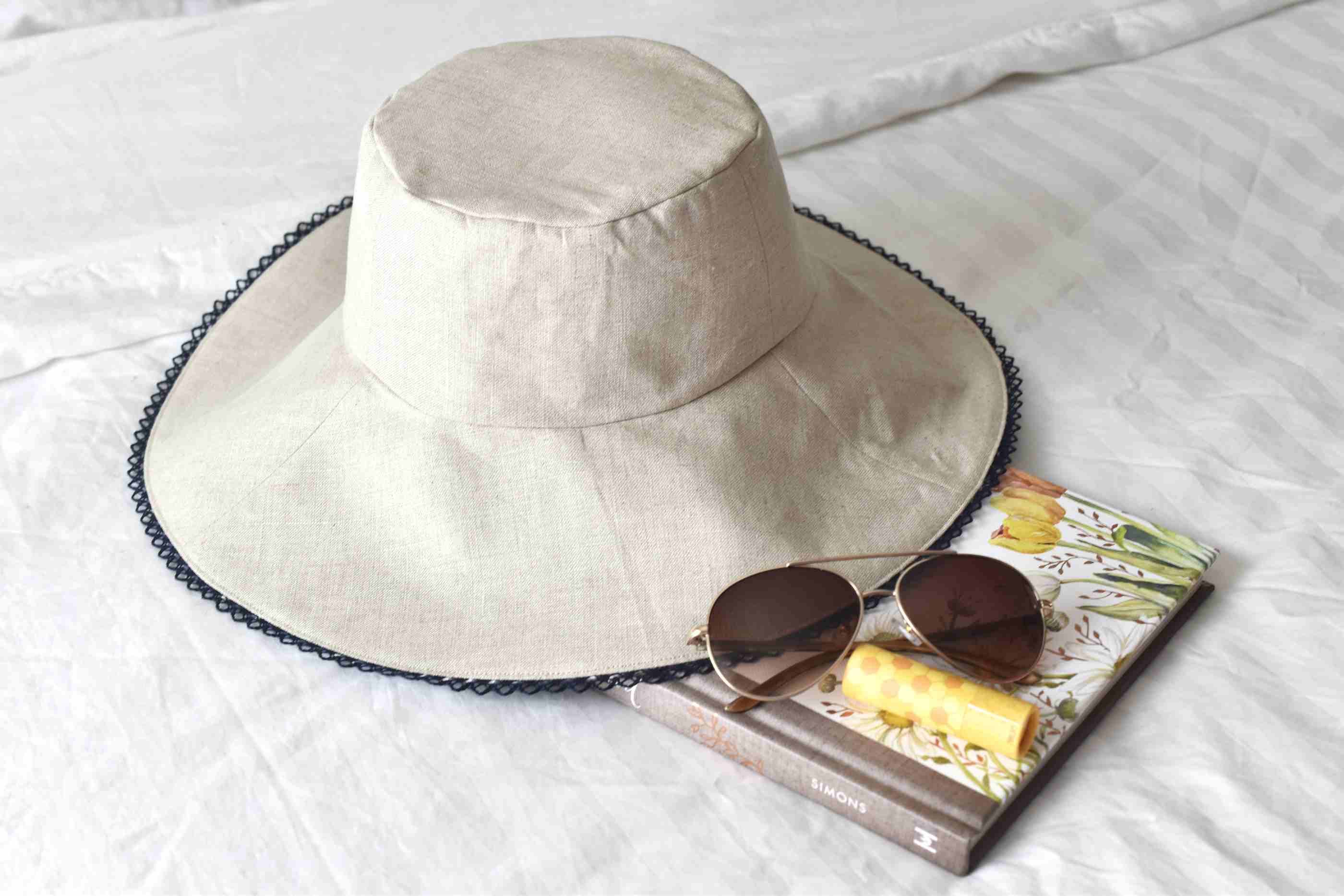 How to Sew a Linen Sun Hat