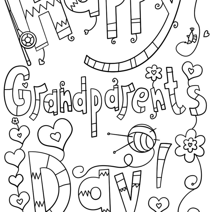 Free Printable Grandparents Day Coloring Pages
