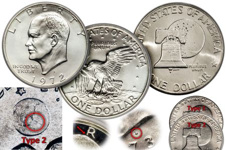 Several Examples Of The Eisenhower Or Ike Dollar