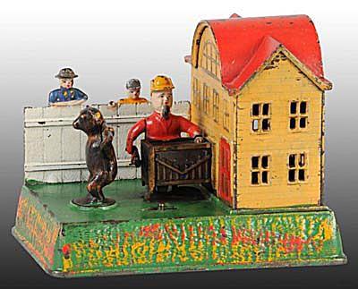 Cast Iron Organ Grinder & Bear Mechanical Bank.