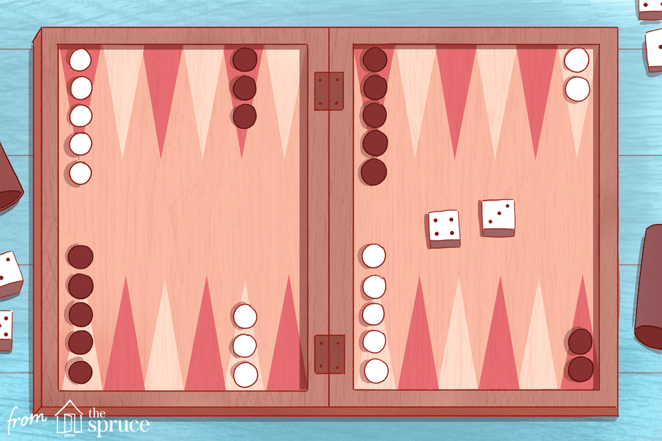 Illustration of a backgammon board