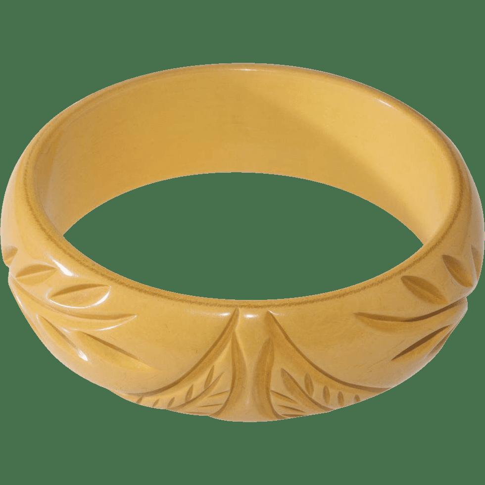 Carved Bakelite Bangle
