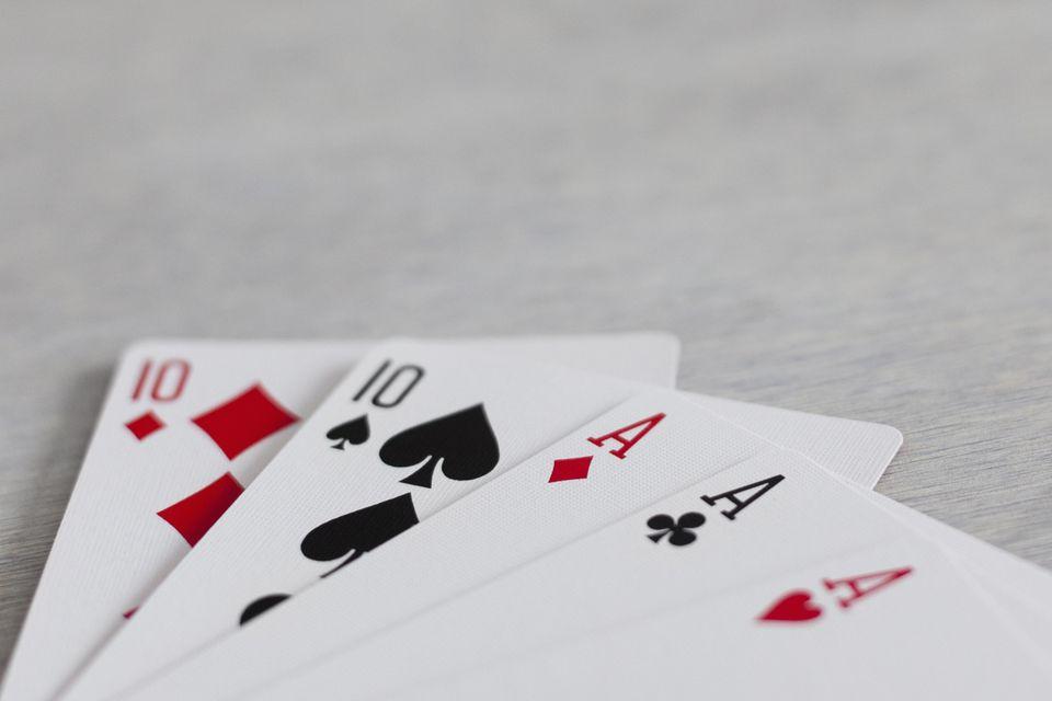 Full house hand in poker