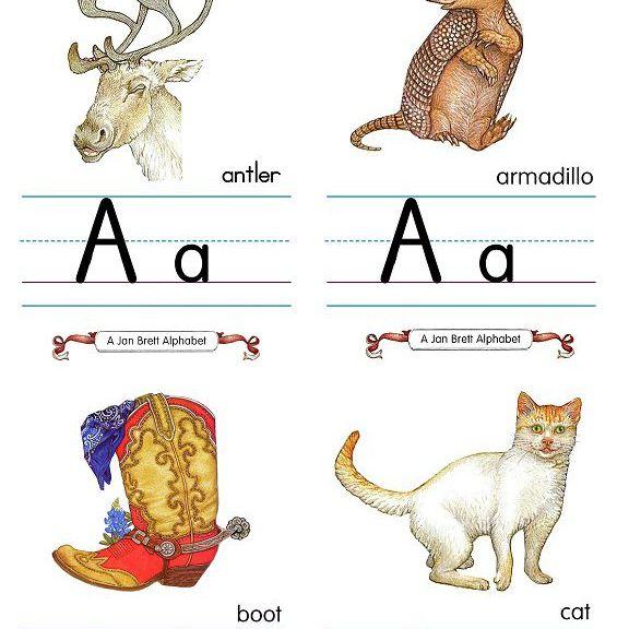 A-C Alphabet Flash Cards