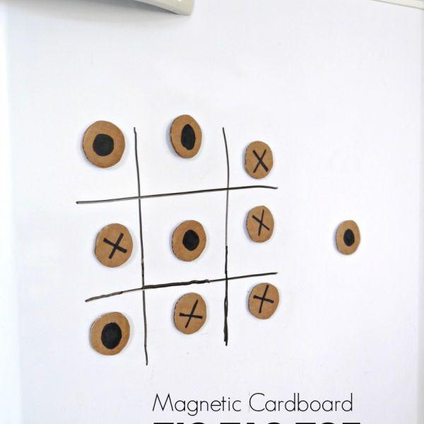 magnetic cardboard tic-tac-toe