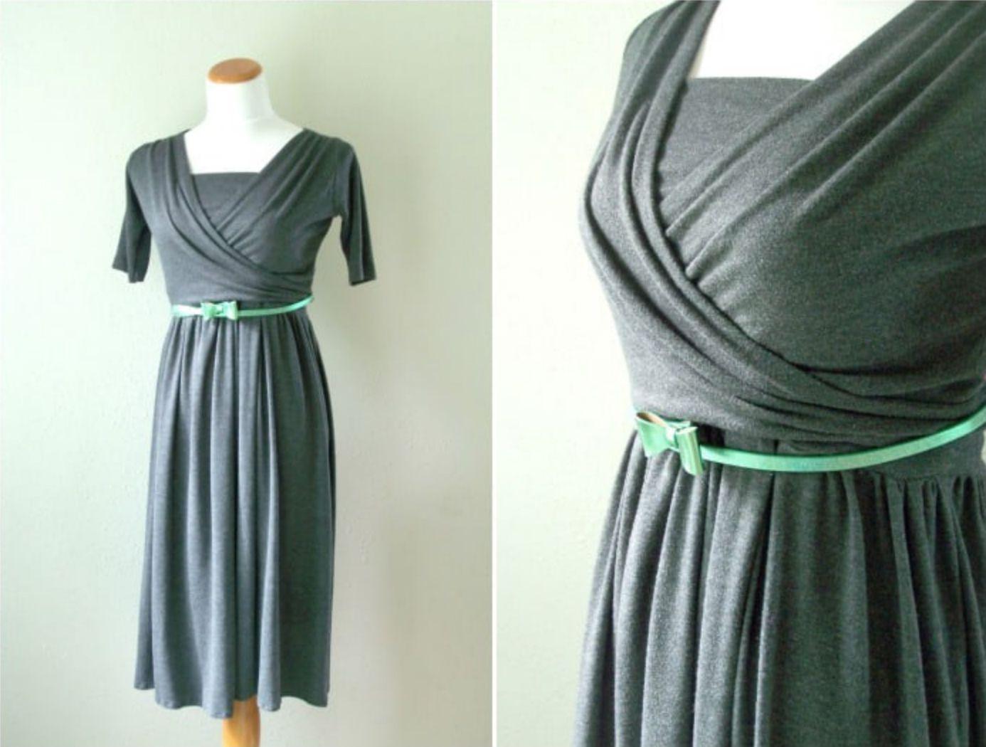 Two-Piece Knit Wrap Nursing Dress Pattern