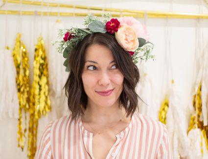 DIY faux flower crown