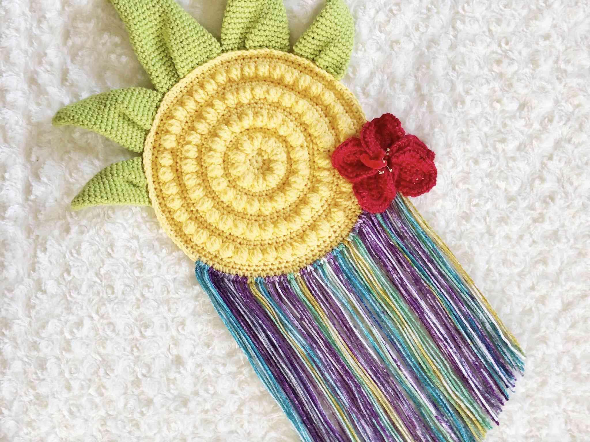 Crochet Pineapple Wall Hanging