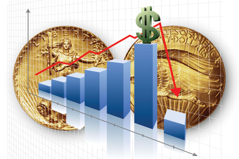 price bubble graph with Saint-Gaudens twenty dollar gold double eagle