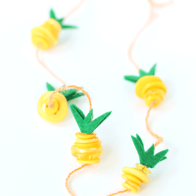 Pineapple Necklace Kids Craft