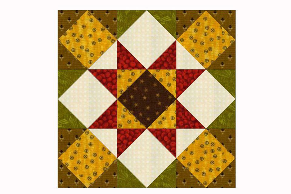 Kansas Star quilt block pattern