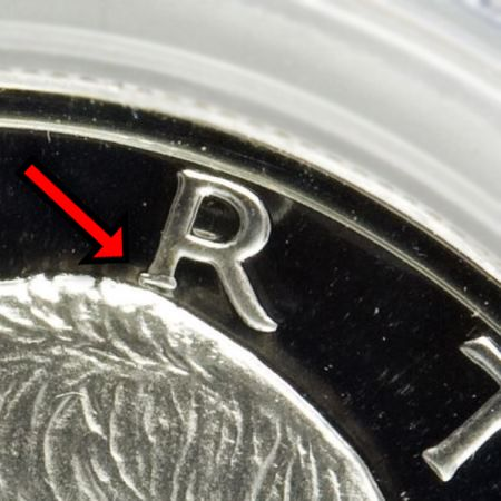 "Eisenhower Dollar 1971-S Proof (Normal ""R"")"