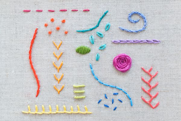 15 Hand Embroidery Stitches