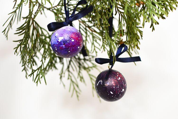 DIY Space Christmas Ornaments