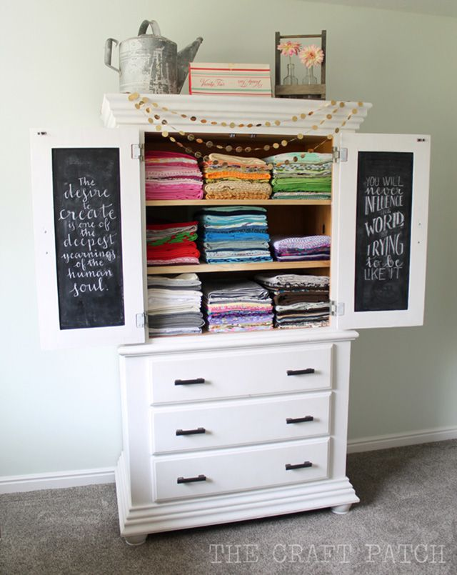 armoire fabric storage