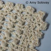 Scalloped Puff Stitch Edging -- Free Crochet Pattern