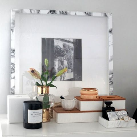 DIY Marble Photo Frame