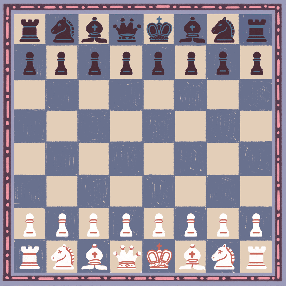 Placing the pawns in chess