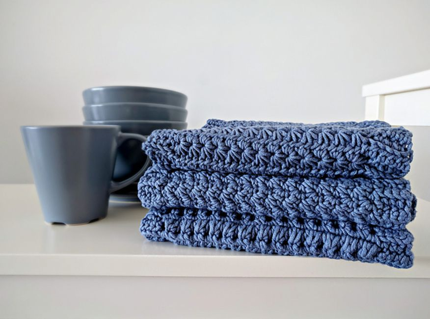 Kitchen Towel Crochet Pattern Set