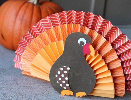 Paper fan turkey